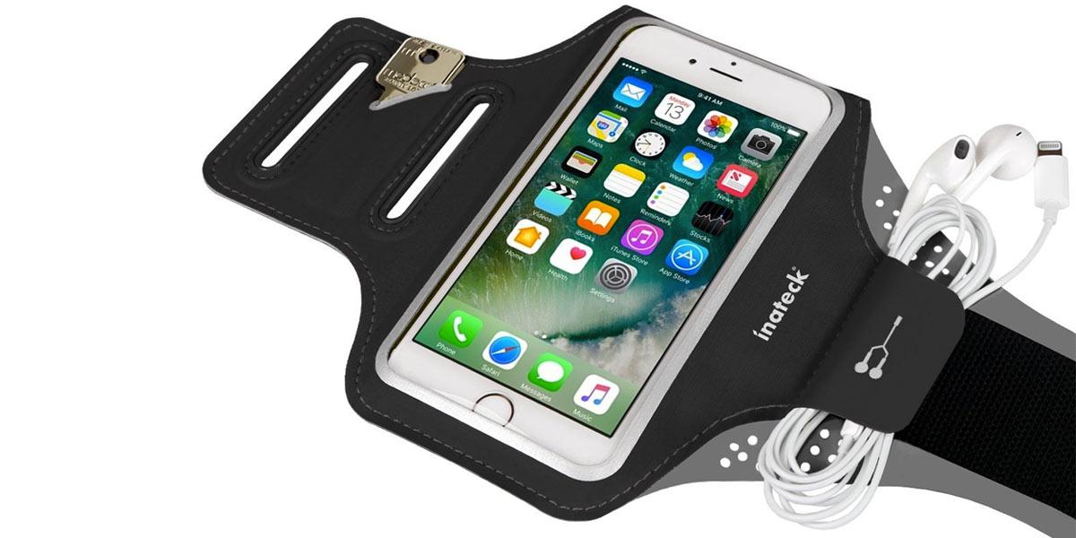 Fascia porta cellulare da braccio versatile con altri oggetti